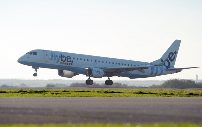 Cornwall-Airport-Newquay-Flybe-E195-Jet-Landing