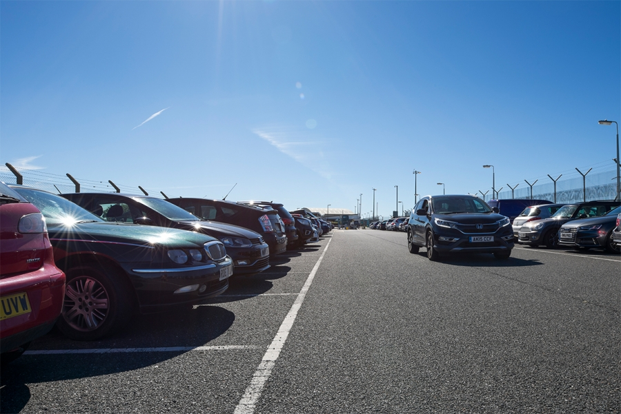 Cornwall-Airport-Newquay-West-Car-Park-Blue-Skies