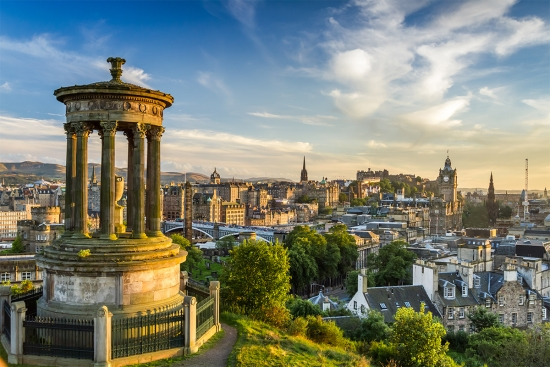 Edinburgh-skyline-Calton-Hill-Monument-Scotland